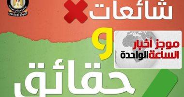 موجز 1.. 12 شائعة نفتها الحكومة فى 8 أيام