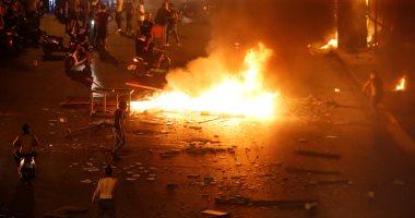مصرع شخصين فى لبنان اختناقا خلال مظاهرات بيروت