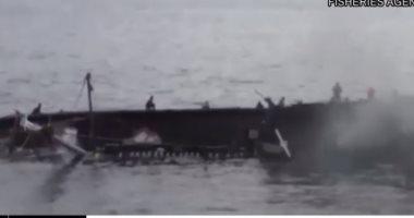 انحراف عبارة تحمل 300 راكب ناحية الأرض قبالة السواحل الفنلندية