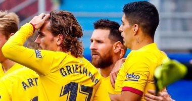 ترتيب الدوري الإسبانى بعد نهاية مباريات السبت.. برشلونة يخطف الصدارة