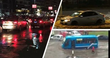 كثافات مرورية بسبب حادث تصادم سيارتين أعلى الطريق الدائرى اتجاه المنيب