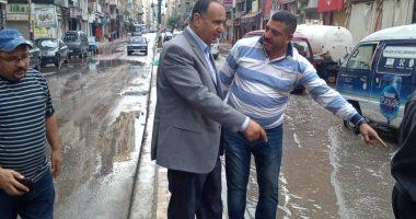 صور.. محافظ الإسكندرية يكلف السكرتير العام بتفقد تصريف الأمطار خلال النوة