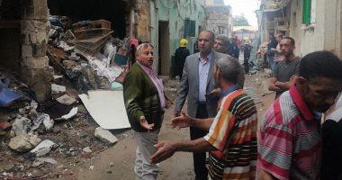 مصرع طفلة وإصابة آخر فى انهيار عقار غرب الإسكندرية
