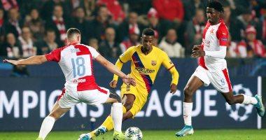 سلافيا براج ضد برشلونة.. البارسا يتلقى الهدف الأول و النتيجة 1 - 1.. فيديو