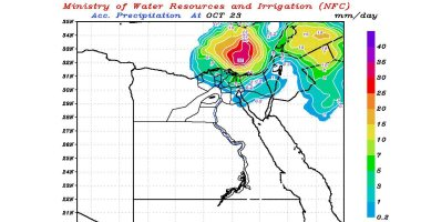 مركز التنبؤ بالفيضان يتوقع استمرار سقوط أمطار على البلاد تزداد شدتها الجمعة