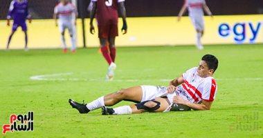 إصابة قوية لمصطفي محمد في مباراة الزمالك والترجي