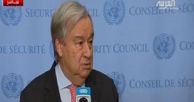 الأمين العام للأمم المتحدة يدعو إلى ضبط النفس فى لبنان