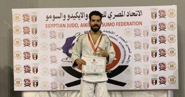 أحمد عمرو لاعب الشمس يتوج بذهبية الجودو فى بطولة الجمهورية