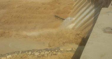صور.. سد الروافعة بشمال سيناء يحتجز 5 ملايين متر مكعب من مياه السيول