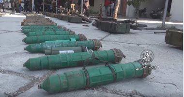 شاهد.. الجيش السوري يضبط أسلحة وذخائر بكميات كبيرة في جبال القلمون