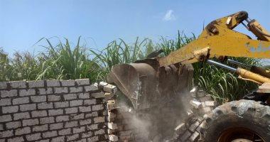 تنفيذ إزالة 17 حالة تعد على النيل والأراضى الزراعية بسوهاج