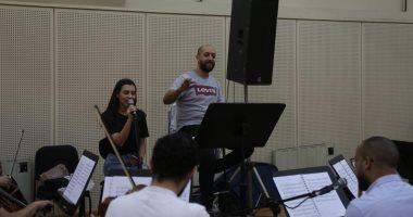 كارمن سليمان تجرى بروفة حفلها بالأوبرا ضمن فعاليات مهرجان الموسيقى