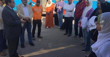 القوافل الطبية بجامعة القناة تعالج 680 حالة بقرية الجزيرة الخضراء بالإسماعيلية