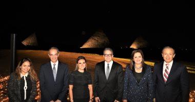 سفراء العالم و4 وزراء فى حفل علماء المصريات بهضبة أهرامات الجيزة