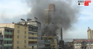 السيطرة على حريق بسلم كوبرى مشاة أمام جامعة القاهرة