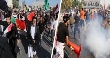 الشرطة العراقية ومسعفون: قتيلان و35 مصابا فى احتجاجات بغداد