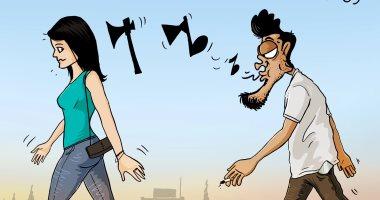 """""""التحرش جريمة"""".. كاريكاتير لصحيفة الغد الأردنية"""