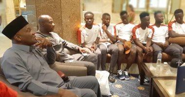سفير غانا يستقبل منتخب بلاده قبل أمم أفريقيا تحت 23 عاما