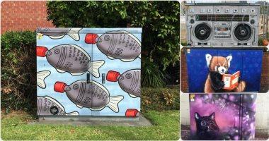"""فنانون حولوا """"أكشاك الكهرباء"""" إلى لوحات فنية فى نيوزيلندا.. الصور مبهرة"""