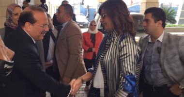 """صور.. وزيرة الهجرة تصل جامعة طنطا لإطلاق """"مبادرة جامعتك لها حق عليك"""""""