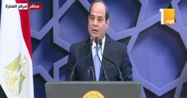 الرئيس السيسى: أثق فى نصر الله القريب لمصر وشعبها