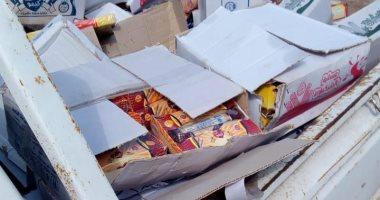 صور.. حماية المستهلك يضبط 5887 قطعة حلوى منتهية الصلاحية قبل إعادة بيعها