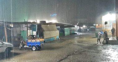 هطول أمطار غزيرة علي مدينة الشلاتين جنوب البحر الأحمر