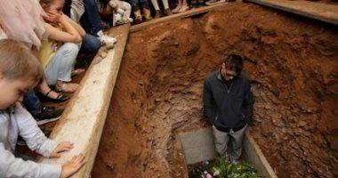 """تشييع جنازة ضحايا حادث """"لبارون"""" فى المكسيك"""