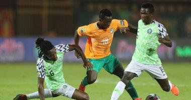 جانب من مباراة كوت ديفوار ونيجيريا في البطولة