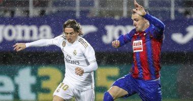 ملخص وأهداف مباراة إيبار ضد ريال مدريد في الدوري الإسبانى