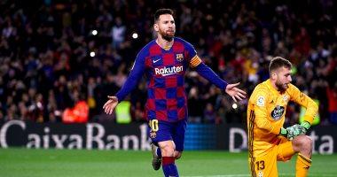 """برشلونة ضد سلتا فيجو.. ميسي ينقذ البارسا في الشوط الأول 2-1 """"فيديو"""""""