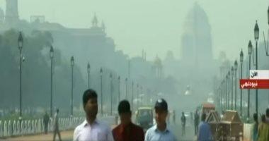 استمرار انتشار الضباب السام فى الهند لليوم السابع على التوالى ..فيديو