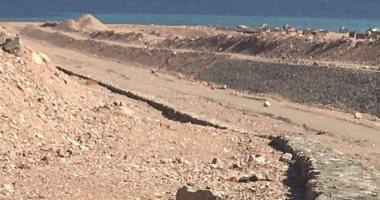 إدارة المياه الجوفية: أعمال حماية طابا بحالة جيدة وجاهزة لموسم السيول.. صور