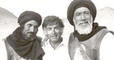 المخرج مصطفي العقاد مع انطوني كوين وعبد الله غيث