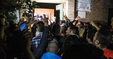 صور.. تشييع جثمان علاء علي لاعب الزمالك السابق
