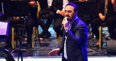 وائل جسار يطرب جمهور حفل الموسيقى العربية ويغنى  للعندليب وأم كلثوم