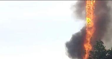 ندب الأدلة الجنائية لمعاينة حريق شبكة تقوية اتصالات بالمعادى