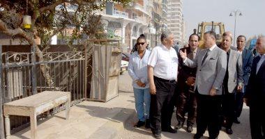 صور.. محافظ بنى سويف يتفقد أعمال المرحلة الأولى من تطوير كورنيش النيل
