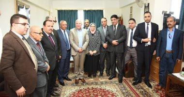 صور.. محافظ بورسعيد يلتقى أعضاء فرع هيئة قضايا الدولة