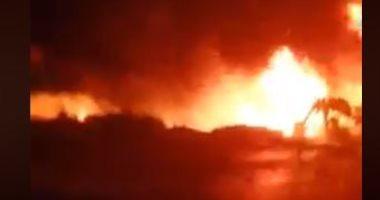 قطع الكهرباء عن إيتاى البارود ورفع الطوارئ بالمستشفيات بعد حريق خط البترول