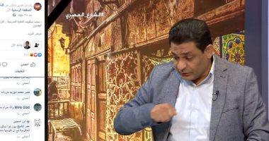 """""""لمبى الإخوان"""" عماد البحيرى يقدم برنامجه ويشاهد نفسه فى نفس اللحظة على الفيس"""