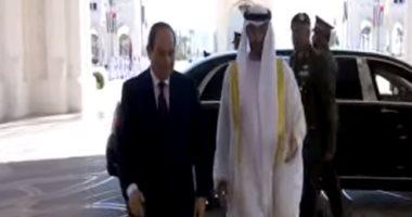 مراسم استقبال رسمية للرئيس عبد الفتاح السيسى فى قصر الوطن بأبو ظبى
