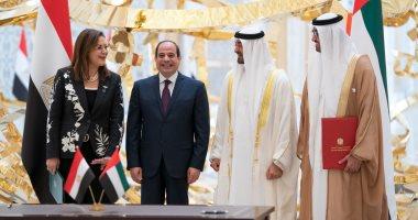 جولة تفقدية للرئيس السيسي والشيخ محمد بن زايد بمعرض أبو ظبى الدولى للبترول