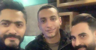 صور.. تامر حسنى يتعاون مع أحمد عاطف فى أغنية جديدة.. اعرف تفاصيلها