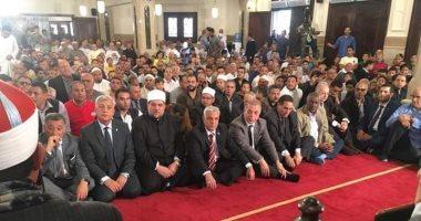 وزير الاوقاف ومحافظ المنوفية يفتتحان مسجد الشهيدين بقويسنا فى المنوفية