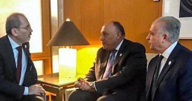 لقاء ثلاثى يجمع وزراء خارجية مصر والأردن والعراق فى واشنطن