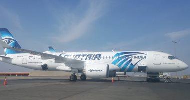 مطار القاهرة يستقبل طائرة مصر للطيران السادسة من صفقة إيرباص ..صور