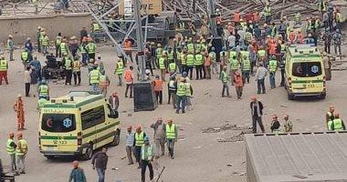 مصرع 4 عمال وإصابة 4 آخرين فى حادث سقوط برج كهرباء تحت الإنشاء فى أوسيم