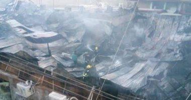 الدفاع المدنى ينجح فى السيطرة على حريق مول تجارى بشارع البوستة فى الشرقية