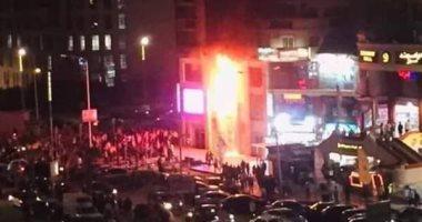 """تحقيقات حريق جراج بولاق: """"اشتعال النيران فى اتوبيسين وسيارة ملاكى"""""""